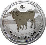 50 Cents - Elizabeth II (4th Portrait - Year of the Ox - Silver Bullion Coin) – reverse