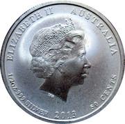50 Cents - Elizabeth II (4th Portrait - Australian-American WWII Memorial) -  obverse