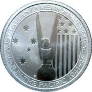 50 Cents - Elizabeth II (4th Portrait - Australian-American WWII Memorial) -  reverse