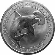 50 Cents - Elizabeth II (4th Portrait - Hammerhead Shark) – reverse