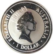 1 Dollar - Elizabeth II (3rd Portrait - Australian Kookaburra) -  obverse