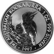 1 Dollar - Elizabeth II (3rd Portrait - Australian Kookaburra) -  reverse
