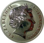 "1 Dollar - Elizabeth II (""Kangaroo"" Silver Bullion Coinage) -  obverse"