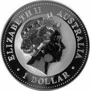 1 Dollar - Elizabeth II (4th Portrait - Australian Kookaburra - New Jersey Privy) -  obverse