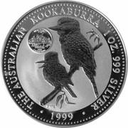 1 Dollar - Elizabeth II (4th Portrait - Australian Kookaburra - New Jersey Privy) -  reverse