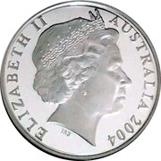 1 Dollar - Elizabeth II (4th Portrait - Masterpieces in Silver - Five Kangaroos) -  obverse