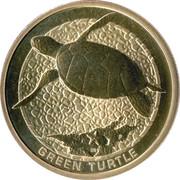1 Dollar - Elizabeth II (Green Turtle) -  reverse