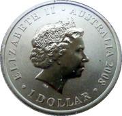 1 Dollar - Elizabeth II (150 Years of Australian Football) -  obverse