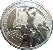 1 Dollar - Elizabeth II (150 Years of Australian Football) -  reverse