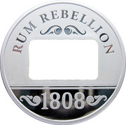 1 Dollar - Elizabeth II (Rum Rebellion) -  reverse