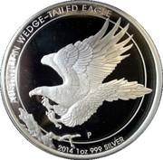 1 Dollar - Elizabeth II (4th Portrait - Australian Wedge-Tailed Eagle) -  reverse