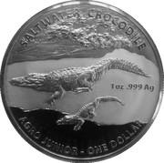 1 Dollar - Elizabeth II (4th Portrait - Saltwater Crocodile - Argo Junior) -  reverse