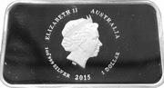 1 Dollar - Elizabeth II (Sunburnt Country) -  obverse