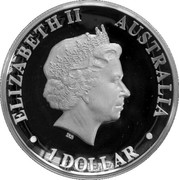 1 Dollar - Elizabeth II (Australian Wedge-Tailed Eagle) -  obverse