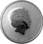 "2 Dollars - Elizabeth II (""Lunar Year Series II"" Silver) -  obverse"