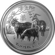 "2 Dollars - Elizabeth II (""Lunar Year Series II"" Silver) -  reverse"
