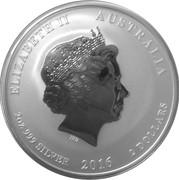 """2 Dollars - Elizabeth II (4th Portrait - """"Lunar Year Series II"""" Silver) -  obverse"""