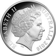 50 Cents - Elizabeth II (4th Portrait - 50th Anniversary of Decimal Currency) -  obverse