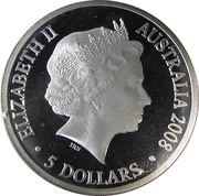 5 Dollars - Elizabeth II (4th Portrait - Skua in Flight - Silver Proof) -  obverse