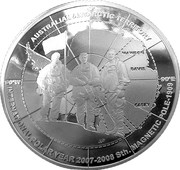 5 Dollars - Elizabeth II (4th Portrait - Three Explorers - Silver Proof) -  reverse