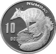 10 Dollars - Elizabeth II (3rd Portrait - Numbat) -  reverse