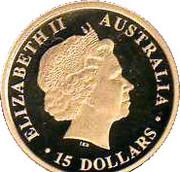 """15 Dollars - Elizabeth II (""""Koala"""" Gold Bullion Coinage) -  obverse"""