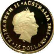 15 Dollars - Elizabeth II (Half Sovereign) -  obverse