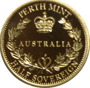 15 Dollars - Elizabeth II (Half Sovereign) -  reverse
