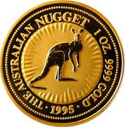 100 Dollars - Elizabeth II (3rd Portrait - Australian Nugget - Gold Bullion Coin) -  reverse