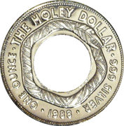1 Dollar - Elizabeth II (3rd Portrait - The Holey Dollar) -  reverse