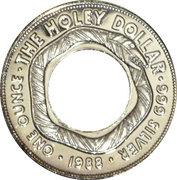1 Dollar - Elizabeth II (The Holey Dollar) -  reverse