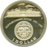 1 Dollar - Elizabeth II (Australia's Old Parliament) -  reverse