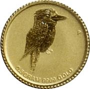 2 Dollars - Elizabeth II (4th Portrait - Mini Kookaburra - Gold Bullion Coin) -  reverse