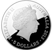 5 Dollars - Elizabeth II (Southern Sky Pavo) -  obverse