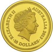 10 Dollars - Elizabeth II (Bicentenary of the Holey Dollar & Dump) -  obverse