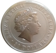 """30 Dollars - Elizabeth II (""""Koala"""" Silver Bullion) -  obverse"""