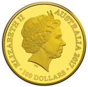 100 Dollars - Elizabeth II (Kangaroo at Sunset series- 10th Anniversary) -  obverse