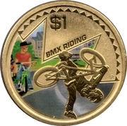 1 Dollar - Elizabeth II (BMX Riding) -  reverse
