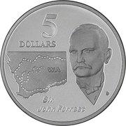 5 Dollars - Elizabeth II (Sir John Forrest) -  reverse