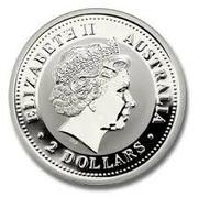 """2 Dollars - Elizabeth II (""""Lunar Year Series II"""" Silver Bullion Coinage) -  obverse"""
