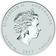 2 Dollars - Elizabeth II (Year of the Rooster) -  obverse