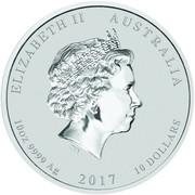 10 Dollars - Elizabeth II (Year of the Rooster) -  obverse