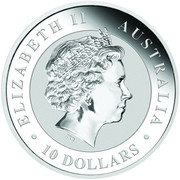 10 Dollars - Elizabeth II (Australian Kookaburra) -  obverse