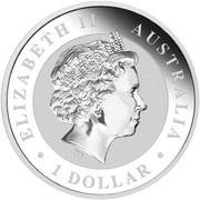 1 Dollar - Elizabeth II (4th Portrait - Koala - Silver Bullion Coin) -  obverse