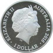 1 Dollar - Elizabeth II (4th Portrait - Year of the Monkey - Large Silver Proof) -  obverse