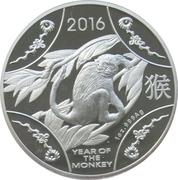 1 Dollar - Elizabeth II (4th Portrait - Year of the Monkey - Large Silver Proof) -  reverse