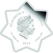 1 Dollar - Elizabeth II (4th Portrait - Christmas 2016) -  obverse
