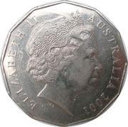 50 Cents - Elizabeth II (Western Australia) -  obverse