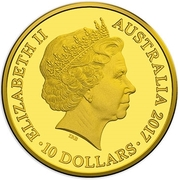 10 Dollars - Elizabeth II (4th Portrait - Year of the Rooster - Gold Proof) -  obverse