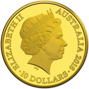 10 Dollars - Elizabeth II (4th Portrait - Year of the Monkey - Gold Proof) -  obverse